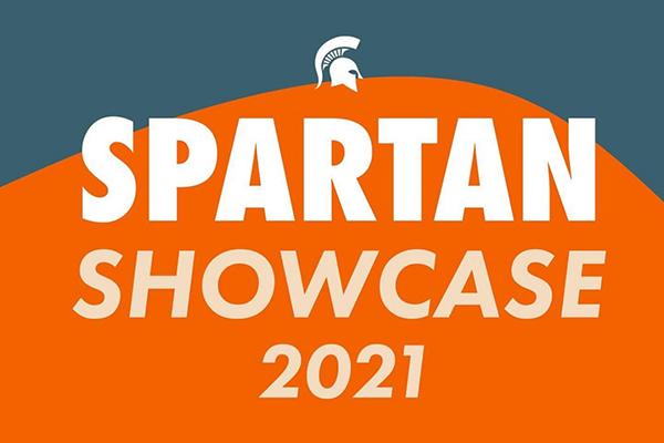 "Graphic reading ""Spartan Showcase 2021"""